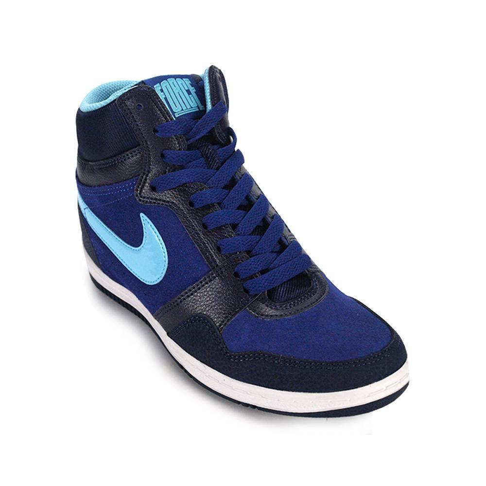 Zapatillas Botitas Nike Force Sky High Deep Mujer