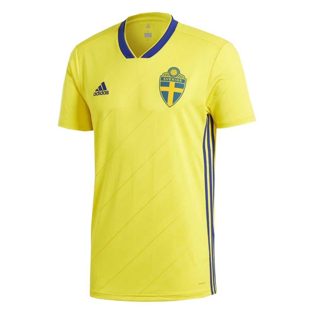 Camiseta Futbol Adidas Oficial Seleccion de Suecia Local 2018 Hombre ... 801de765ce75a