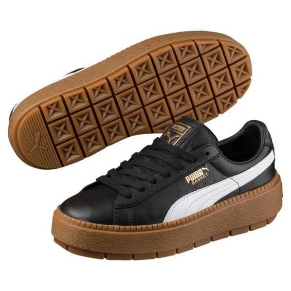 Moda Platform cuero Puma Zapatillas Trace de Mujer 4qxPf4dwpU